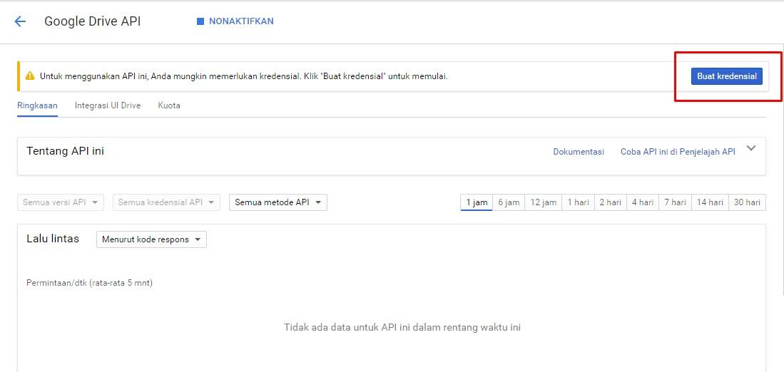 Membuat Kredensial Google API