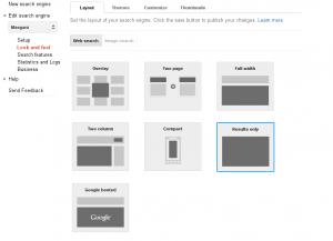 modifikasi halaman hasil pencarian dengan gcse