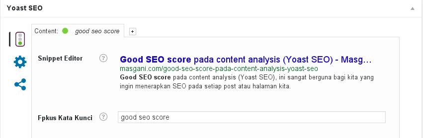 Good SEO score