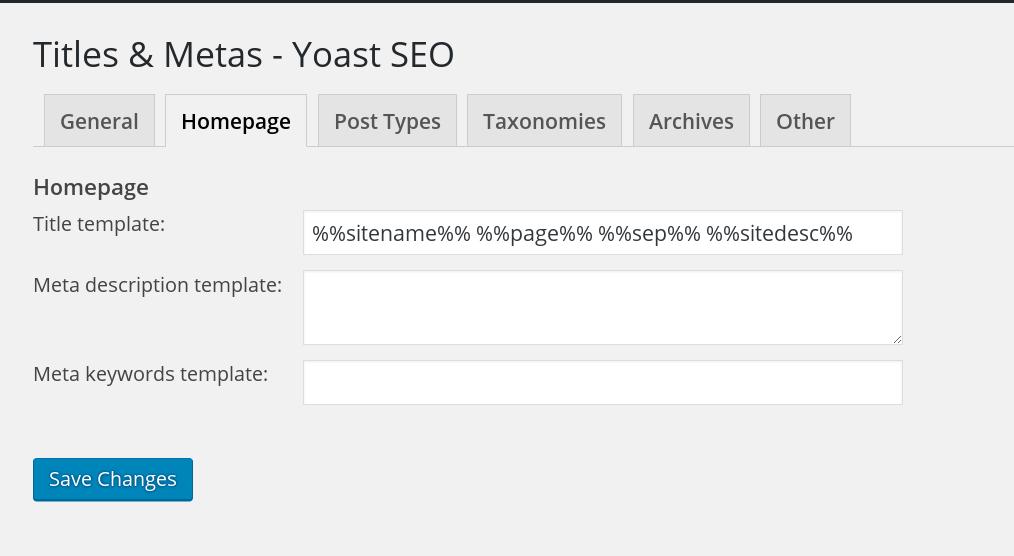 Title dan Meta - Home Page
