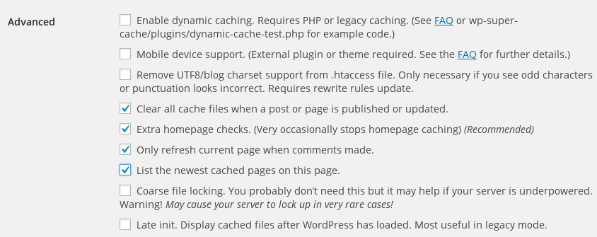 Cara setting plugin WP Super Cache