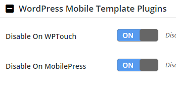 WordPress Mobile Template Plugins