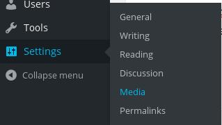 Settings - Media