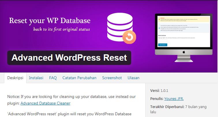 Reset WP
