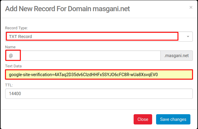 DNS MANAGEMENT Niagahoster (add a new text record