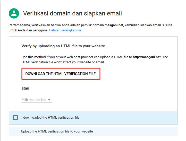 Mnyiapkan Dan Verifikasi Akun G Suite(file html)