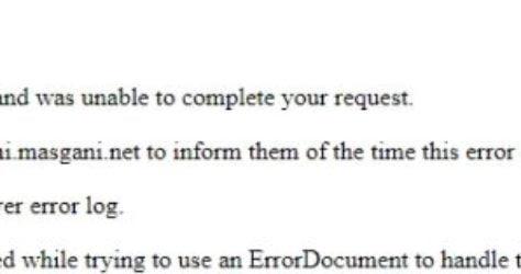 Cara memperbaiki internal server error