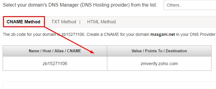 Verifikasi domain - cname method